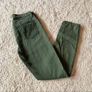 7 for all Mankind Green Denim Size 26